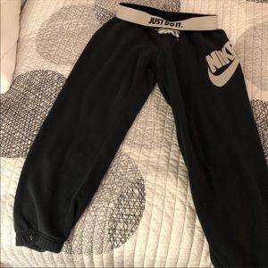 NIKE Sweat Crop Pants with Elastic bottom